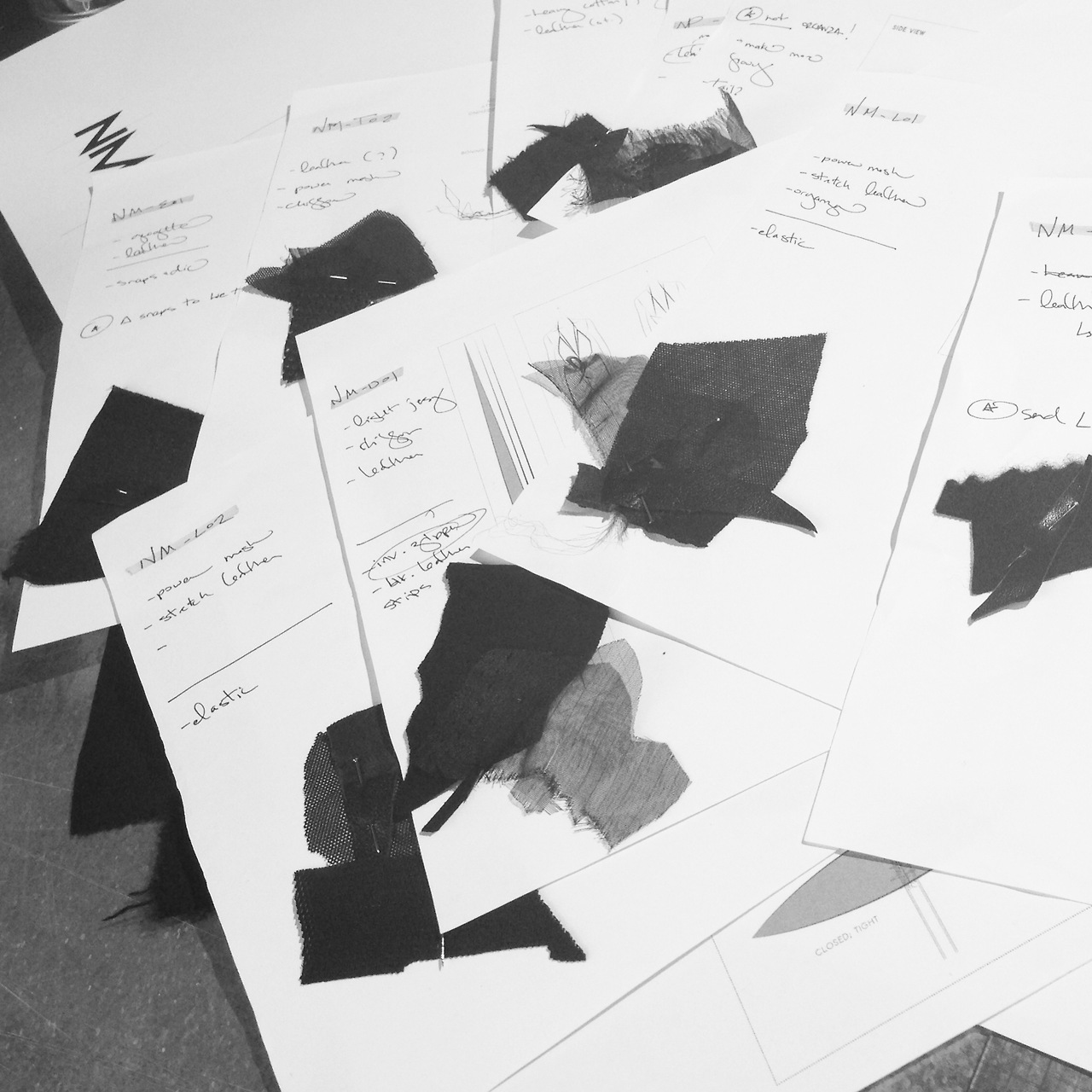 Finalizing production fabrics for A / W 2013!