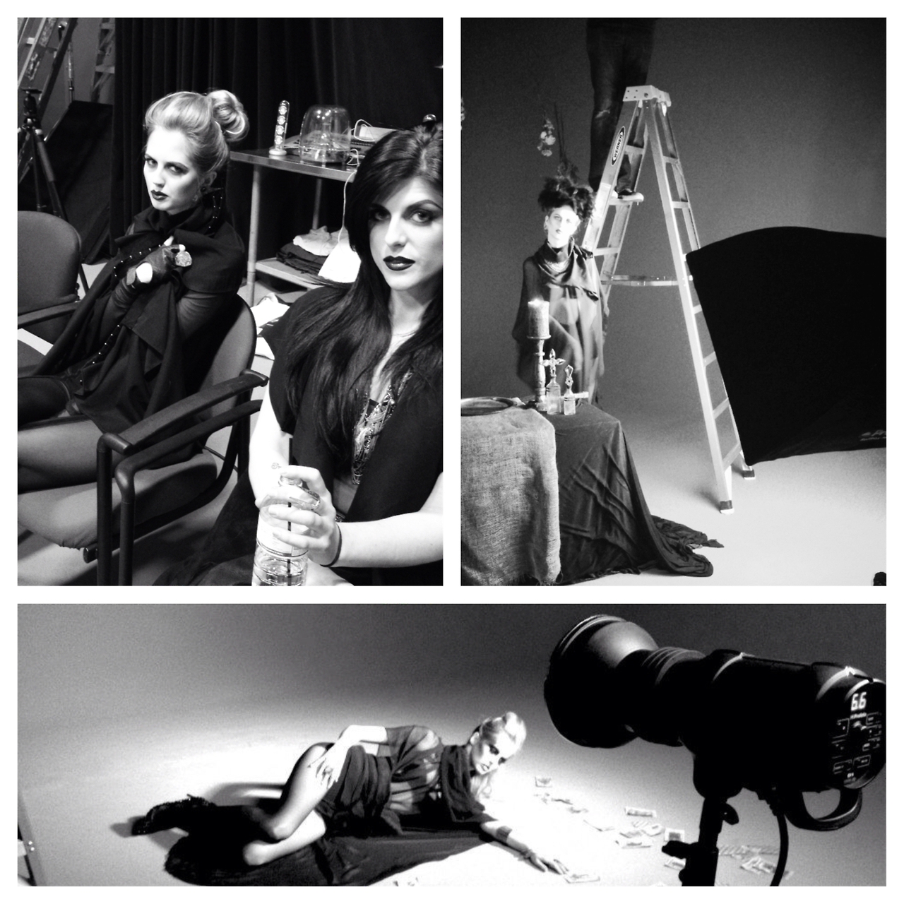 A peek into the magic on set of our editorial shoot for A / W 2013, 'Illa Magus.'