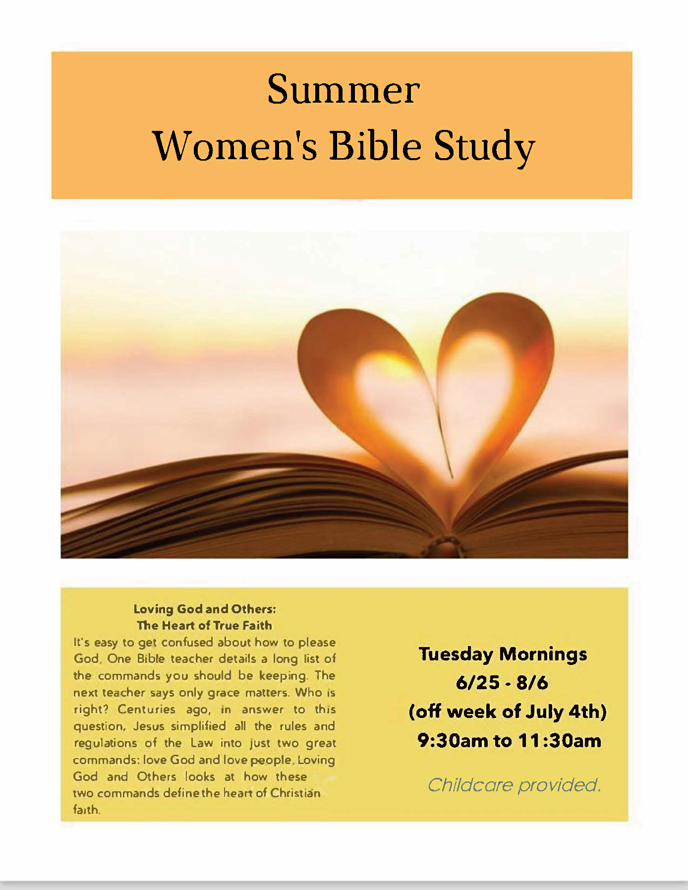 Women's Tuesday Morning Bible Study — Crossway Fellowship