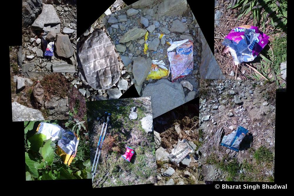 Trail cleanup. Jia-Aadi Himani Chamunda.