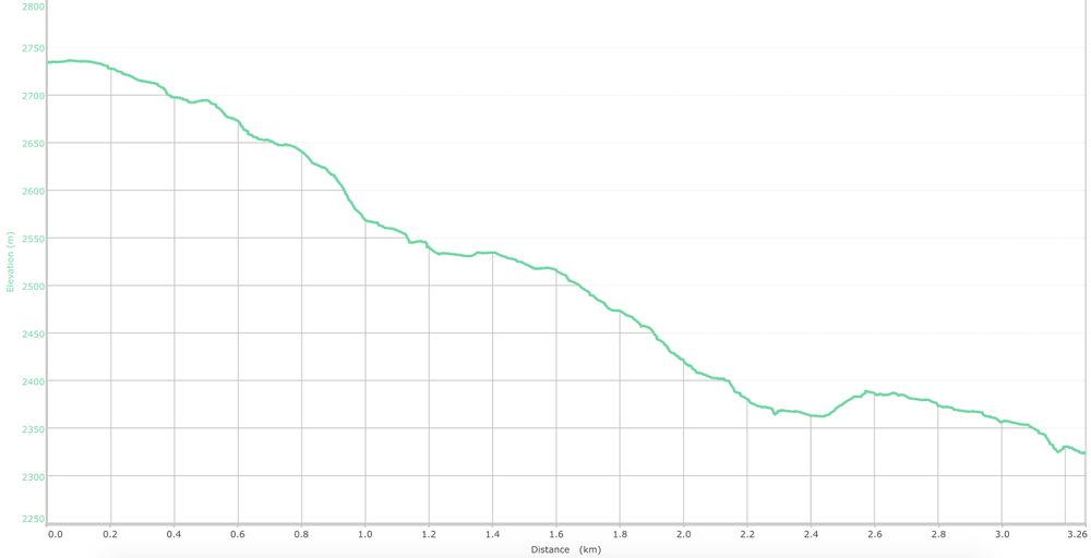 elevation graph - Dainkund to Dalhousie (what is this?)