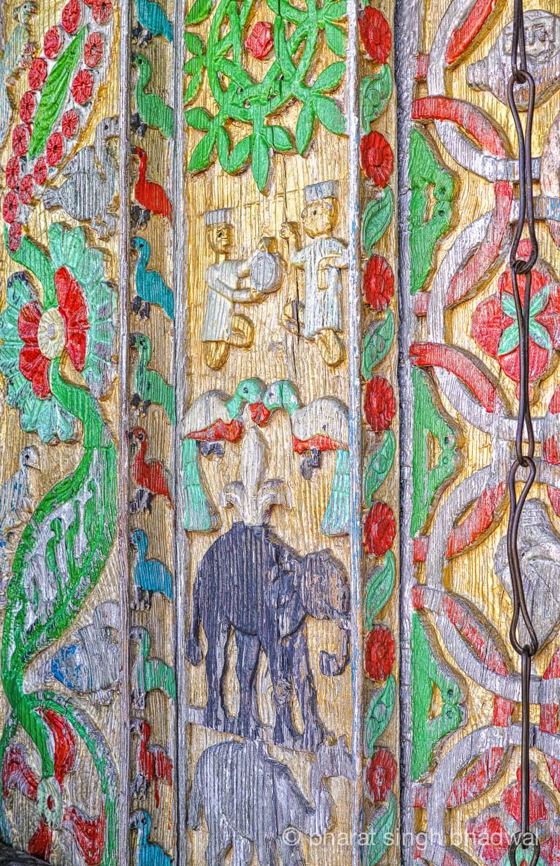 Hand painteddoors at Bijli Mahadev