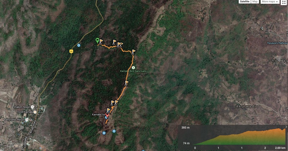 route overview - karnala fort trail