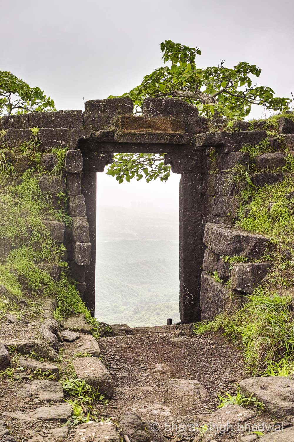 Karnala fort walls and gateway