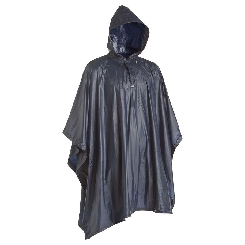 A poncho is an invaluable rain gear.