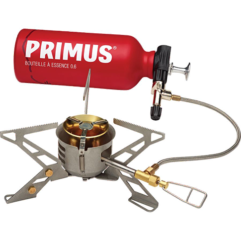 Liquid Fuel Stove with pump inside fuel bottle. Image courtesy primus.eu