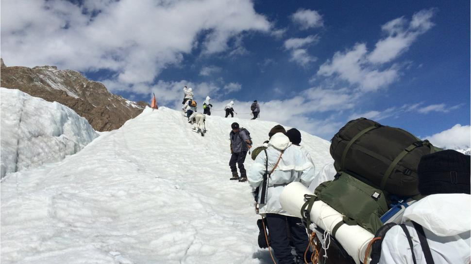 The Civilian Trek on Siachen glacier is almost over. Just 16,000 feet more to rise! ~ Photo: ©  Dinakar Peri