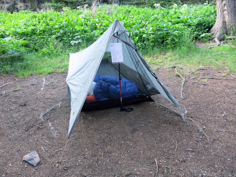 A tarp setup