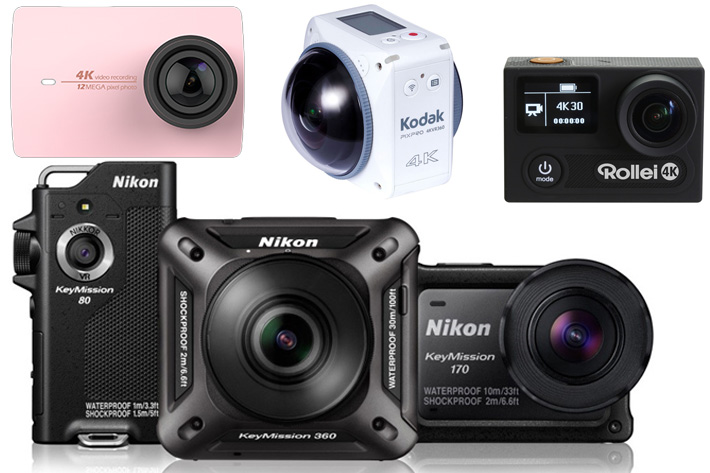 Some action cams announced at this year's Photokina.