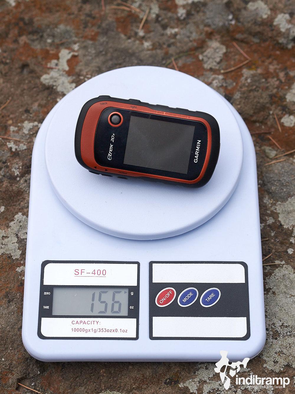 Garmin Etrex 20x review - Weight.jpg