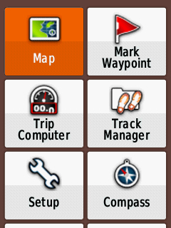 Garmin Etrex 20x User Interface