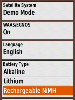 Select Battery Type