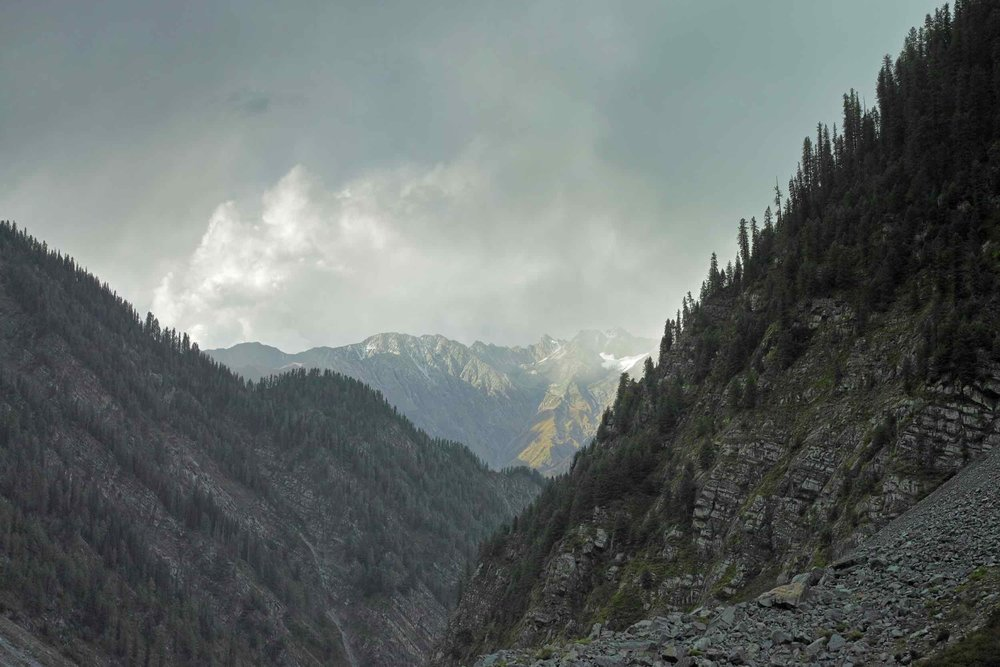 Weather gets nasty just before Dhancho. Mountain tops get fresh snowfall.