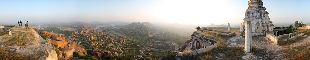 Hampi Scenery from Matanga Hill by LennartPoettering at English Wikipedia [ CC BY-SA 3.0  or  GFDL ], via Wikimedia Commons