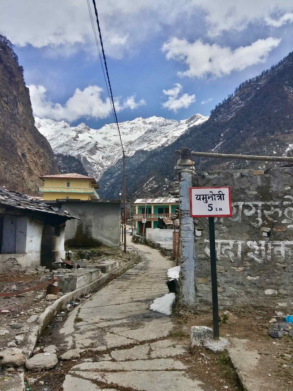 Start of the Yamunotri trail from Janki Chatti