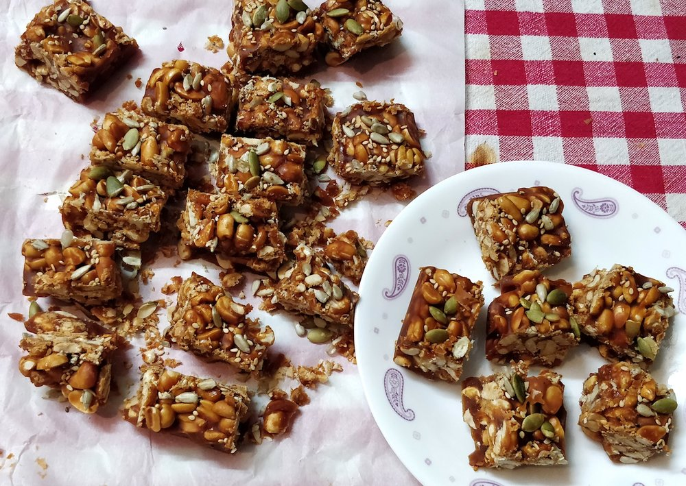 Peanut Chikki Bars for hiking trekking Gorp 2.jpg