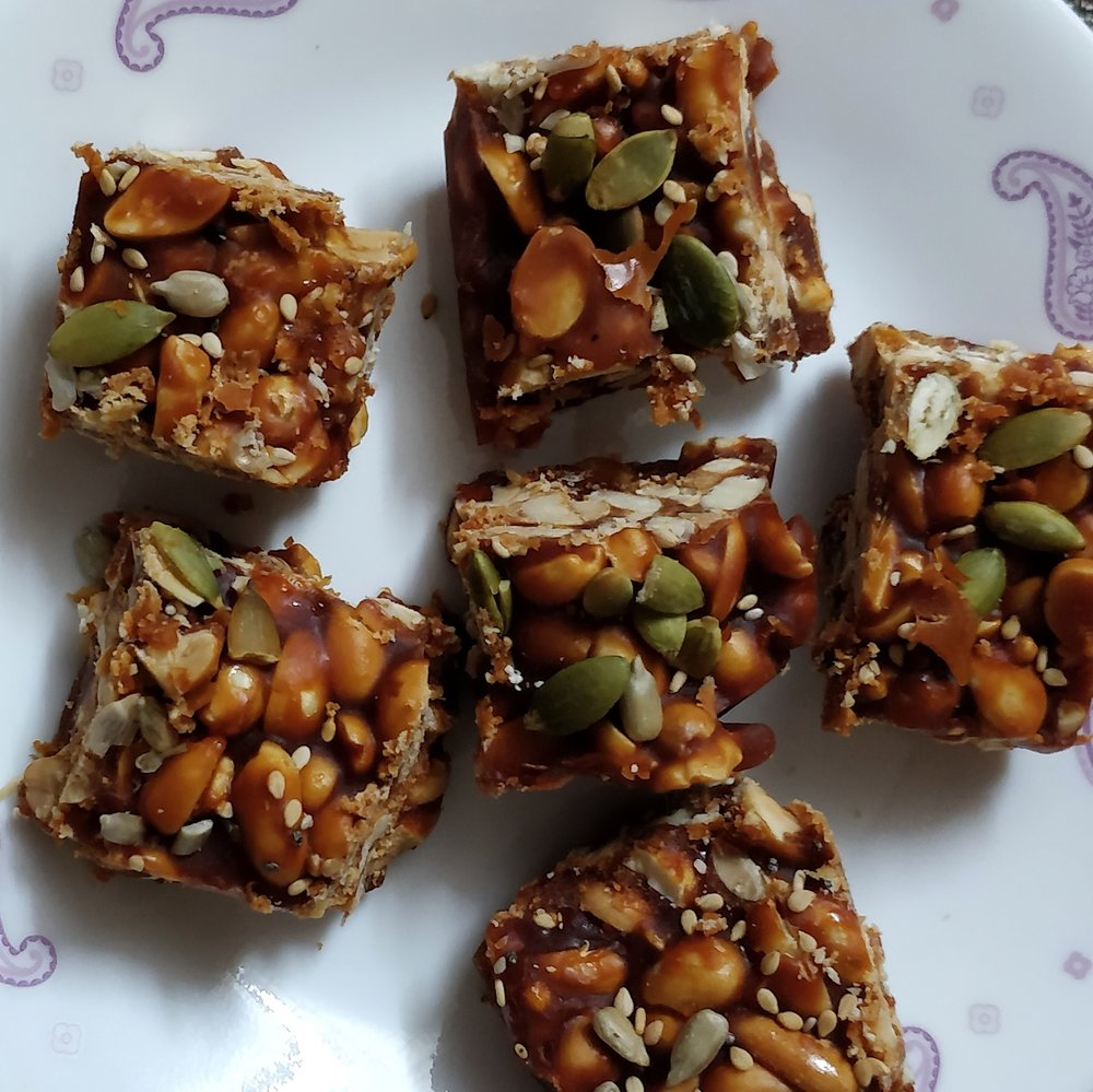 Peanut Chikki Bars for hiking trekking Gorp 3.jpg