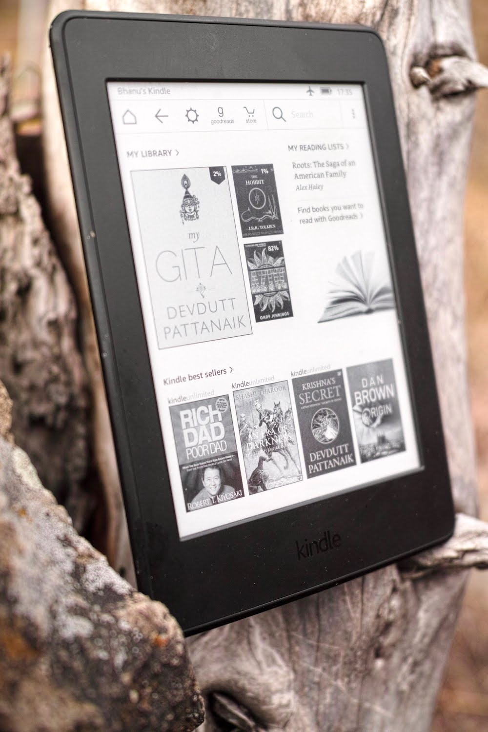 Updating your kindle store experience stuck