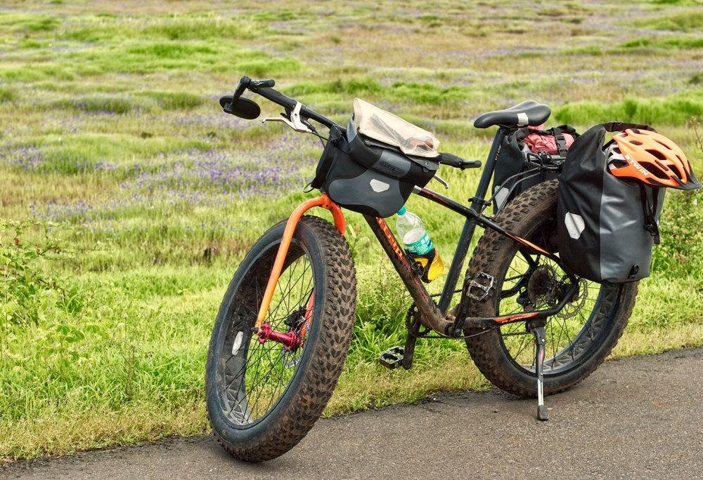 Garmin Etrex 20x in the see-through attachment for my handlebar bag, was my go-to navigation and recording medium. If you choose to use a smartphone, make sure you cover it in a bomb proof case.
