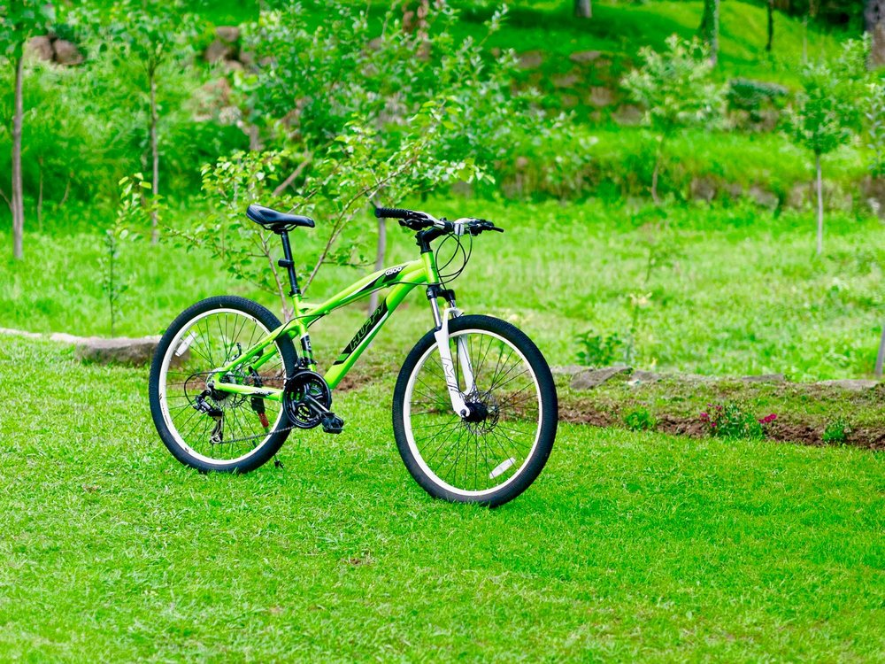The borrowed MTB from my home in the Himalaya