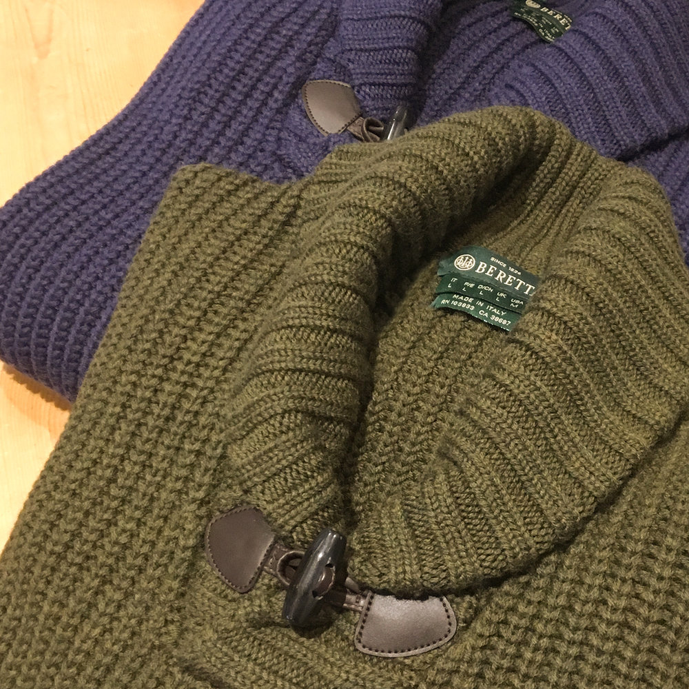 The Beretta Shawl Collar Cable Sweater