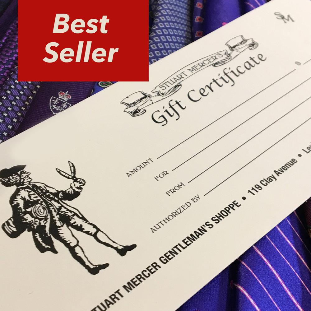 Stuart Mercer Gift Certificate