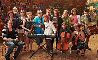The KlezKanada beginners Orchestra led by Lisa Gutkin & Fern Lindzon