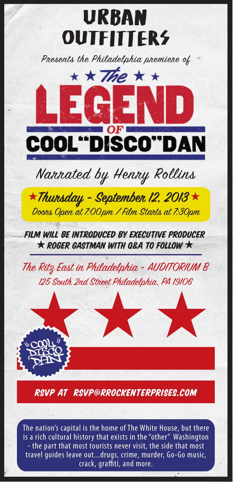 The Ritz East Philadelphia Pa The Legend Of Cool Disco Dan