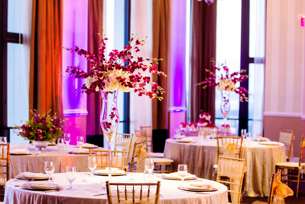 Purple Table Centerpieces