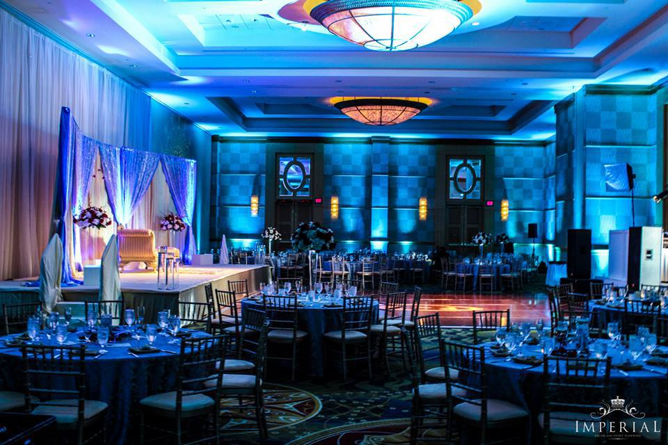 Slate Blue And Gold Fusion All Around Imperial Decor