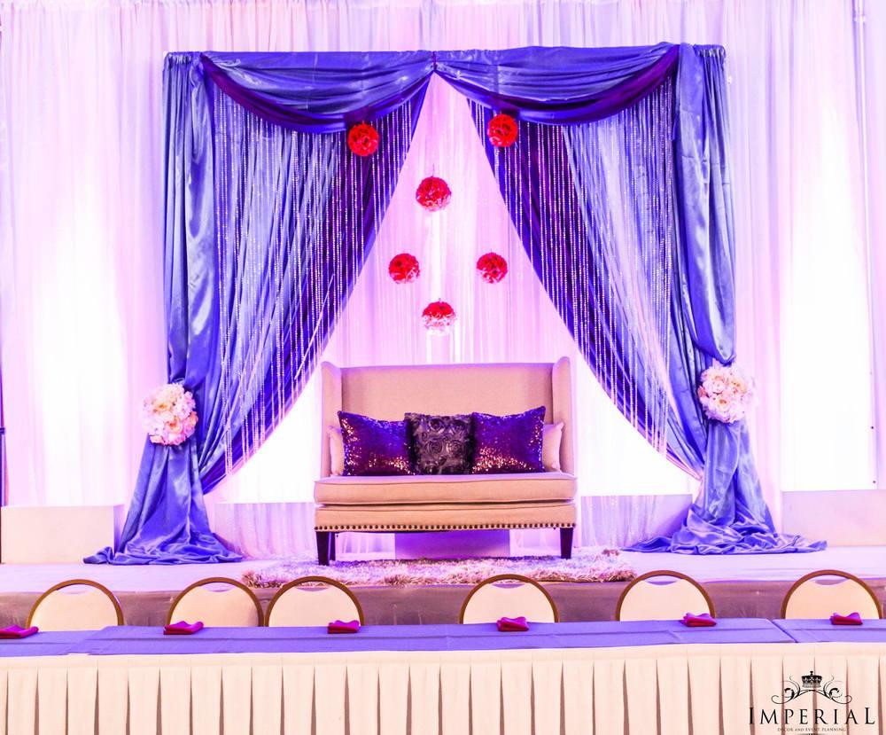 Wedding Decoration Ideas Purple Stage Wedding Stage Decorations