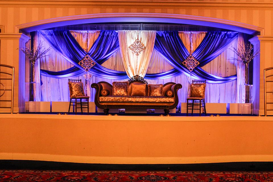 A bold end to an amazing year imperial decor for Backdrops for stage decoration