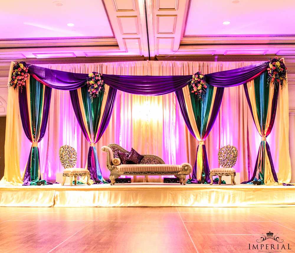Inspirations imperial decor for Background decoration for indian wedding