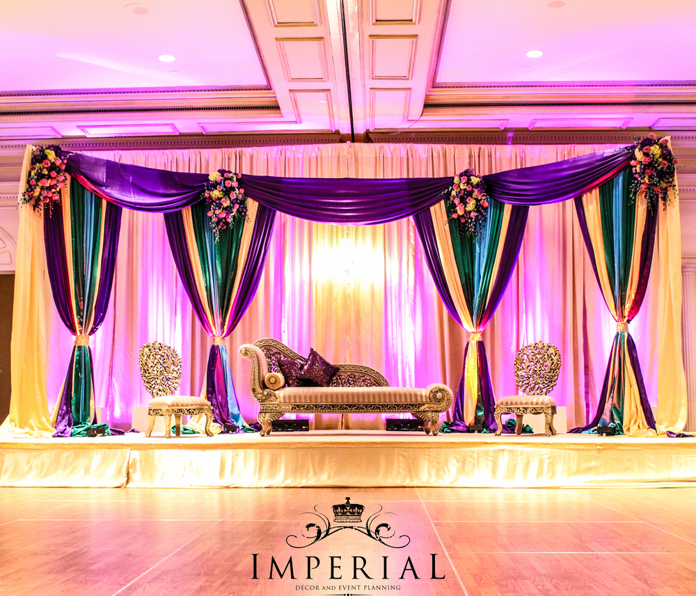 A peacock themed event with a hint of elegance imperial for Imperial home decor