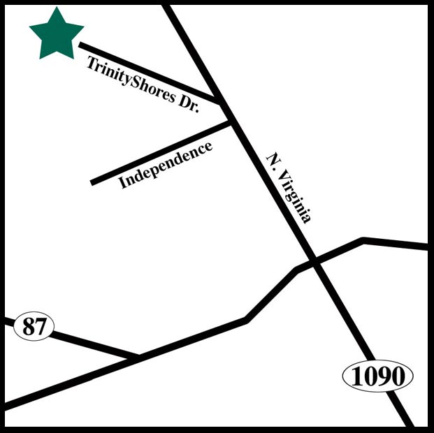 Map to Trinity Shores