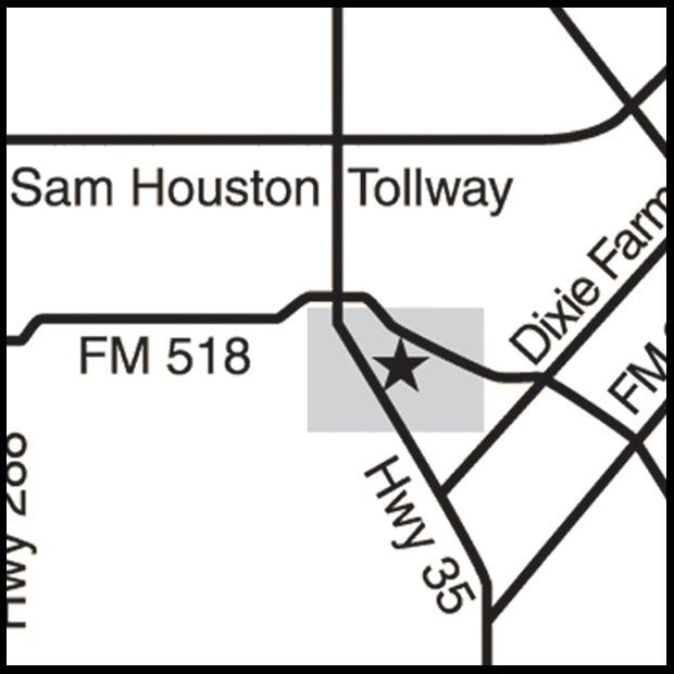 Map to Trinity Oaks
