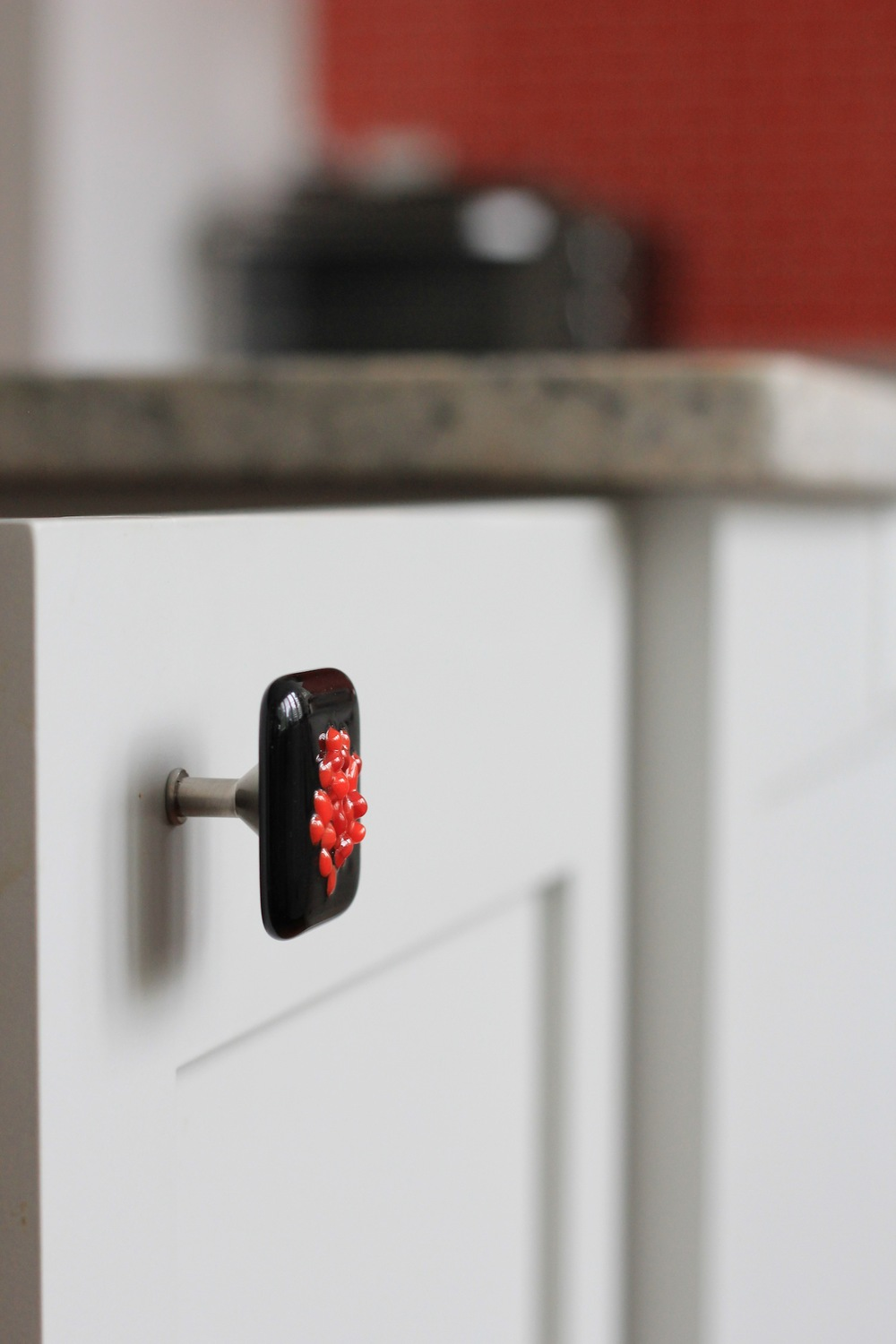 Custom designed knobs for customer's kitchen