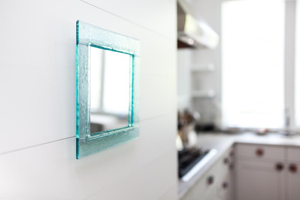 Aqua ripple mirror