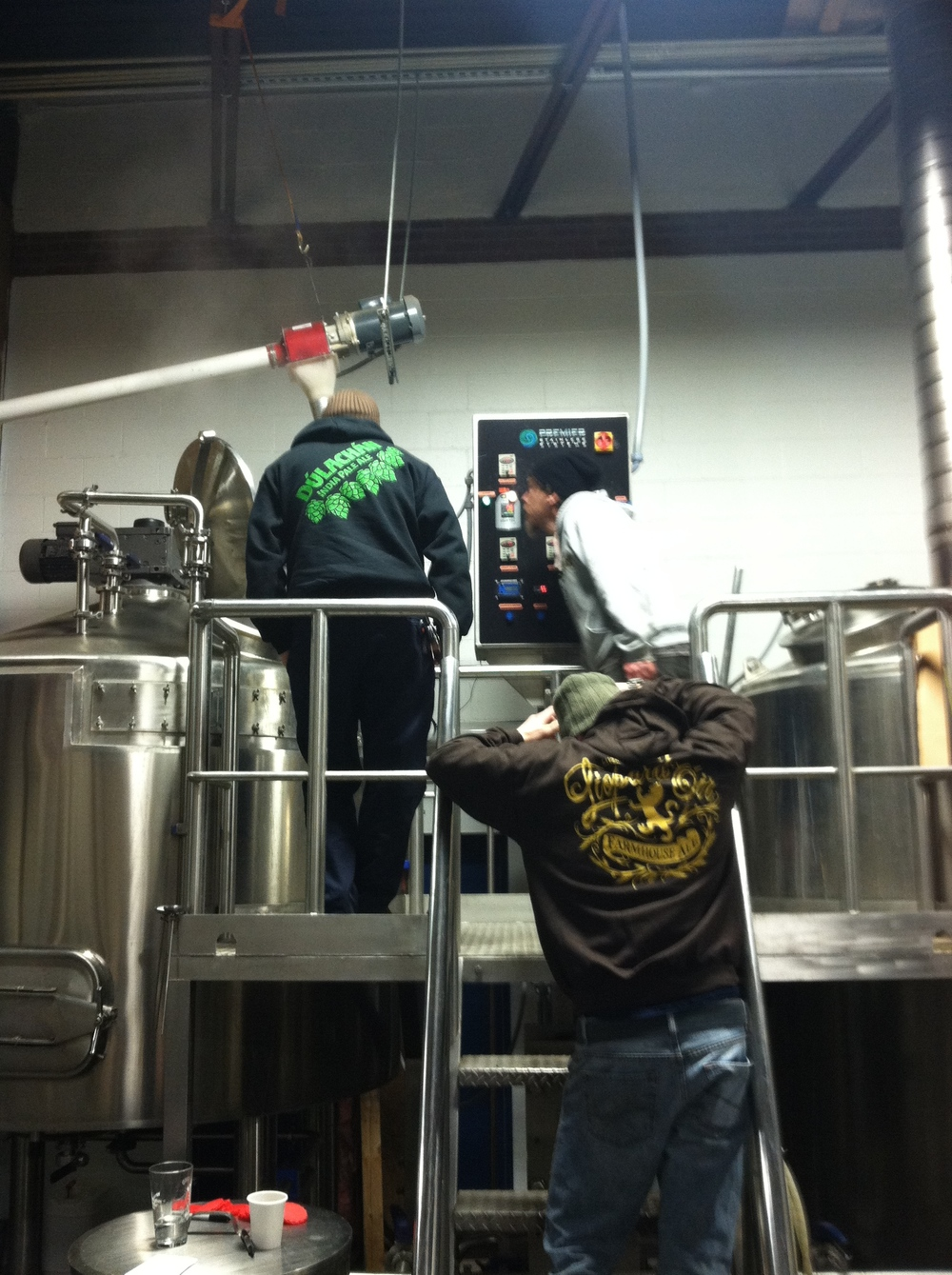 Mashing in at East End...