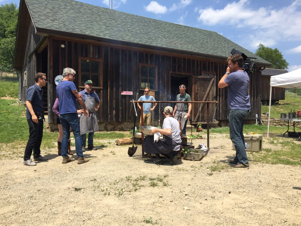 Meat, fire, sun, hot.