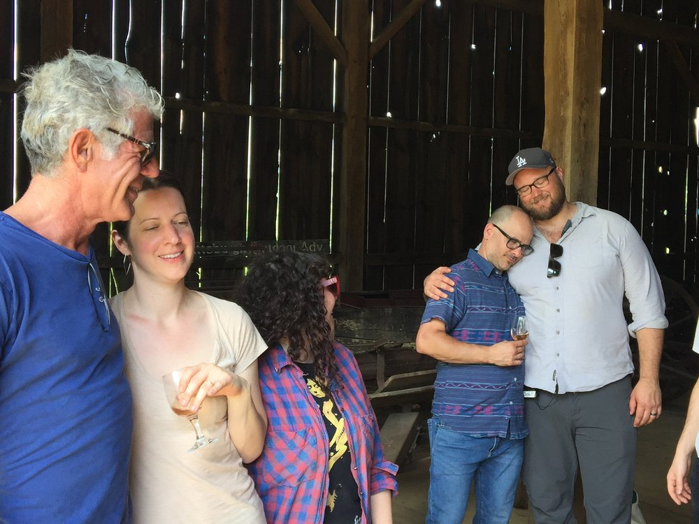 Post meal hug-out with the production manager.