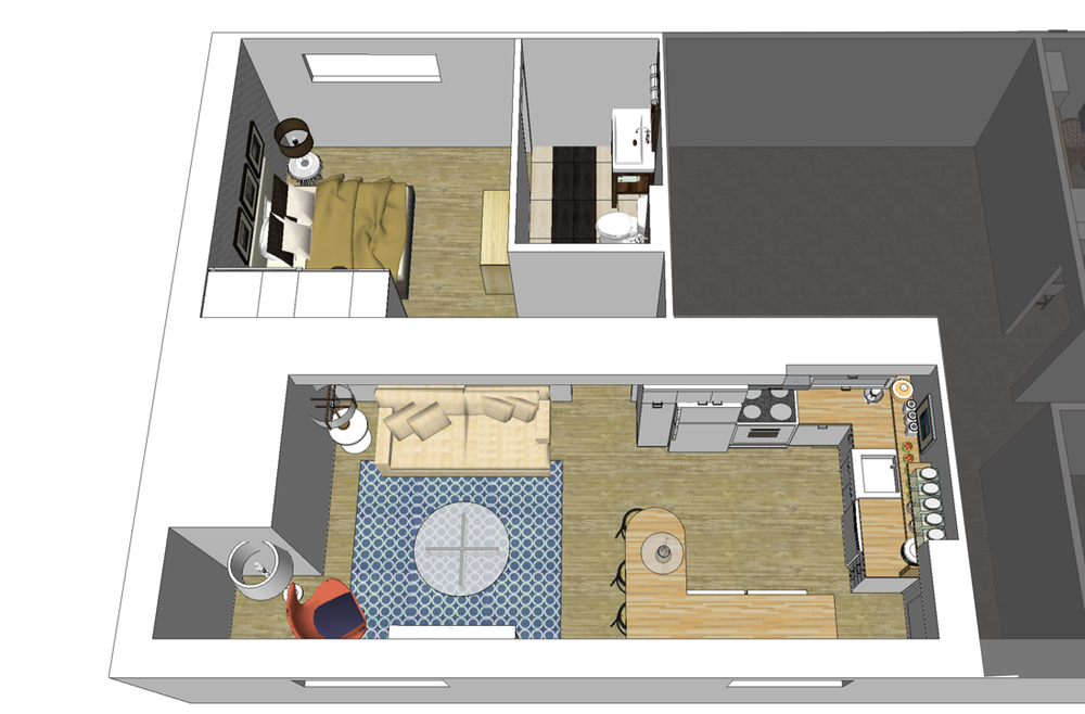 Nanaimo Basement Suite Floor Plan