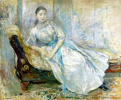 "Berthe Morisot ""Madame Albine Sermicoli in the Studio"""