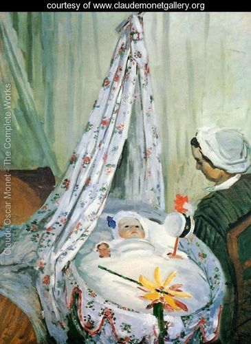 "Claude Monet ""Jean Monet In His Cradle"""