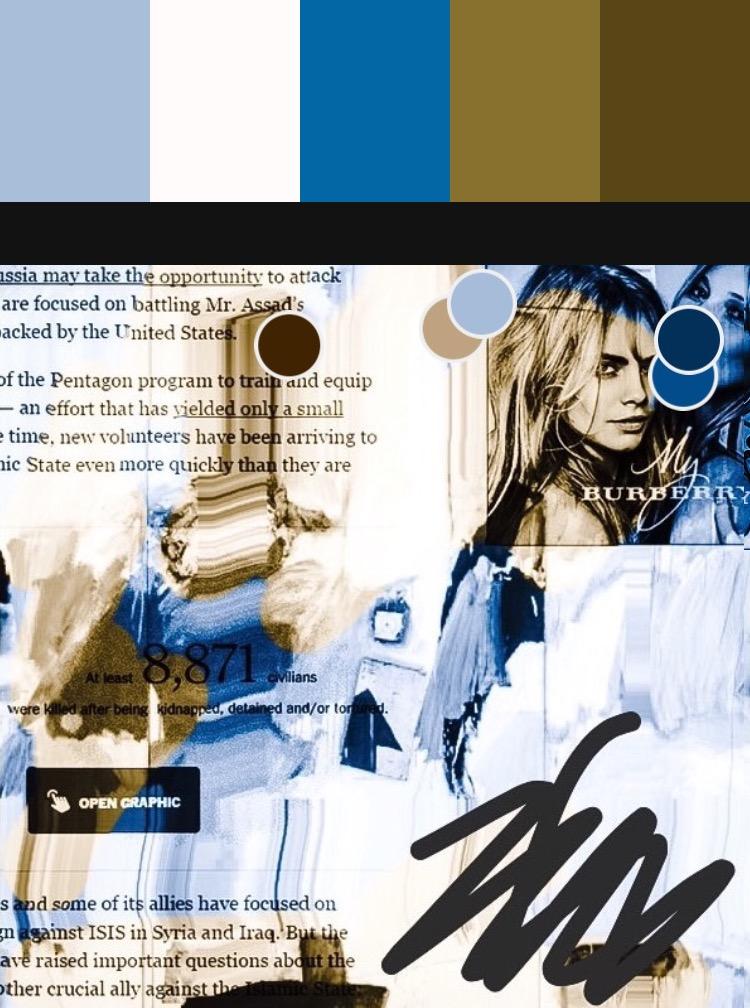 """Burberry (Pantone Remix)"", iPhone 6S, digital image, 2017."