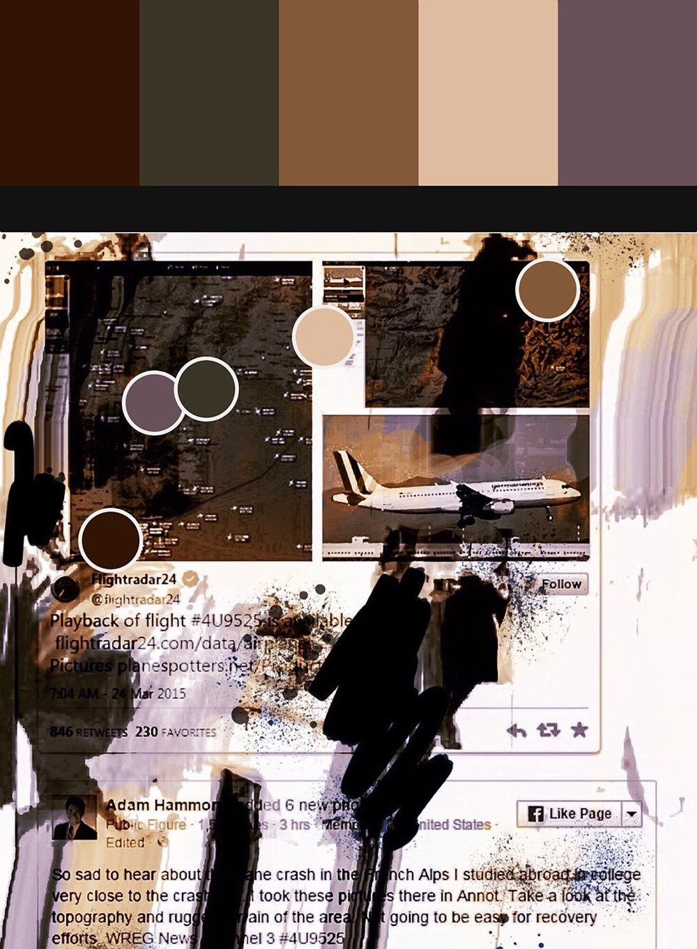 """4U 9525 (Pantone Remix)"", iPhone 6S, digital image, 2017"