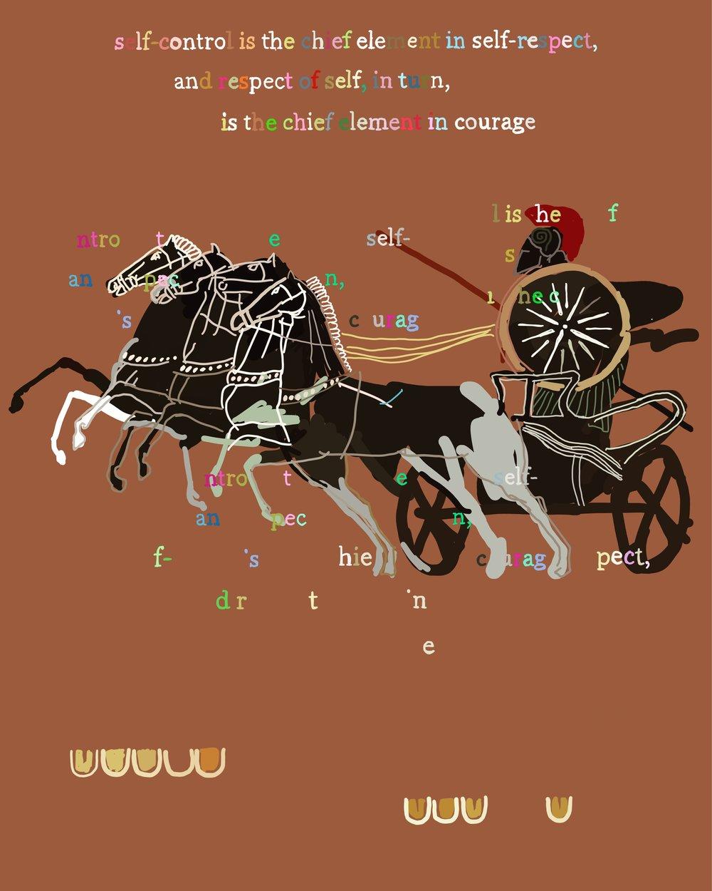 The Peloponnesian War, Book 1.84, The Debate at Sparta, iPhone X, digital image.