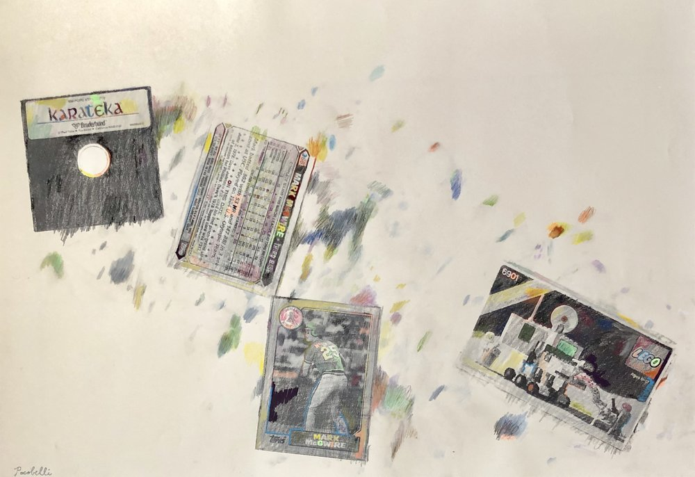 """Karateka+Mark+McGwire+Mobile+Lab"", 100 cm x 70 cm, mixed media."