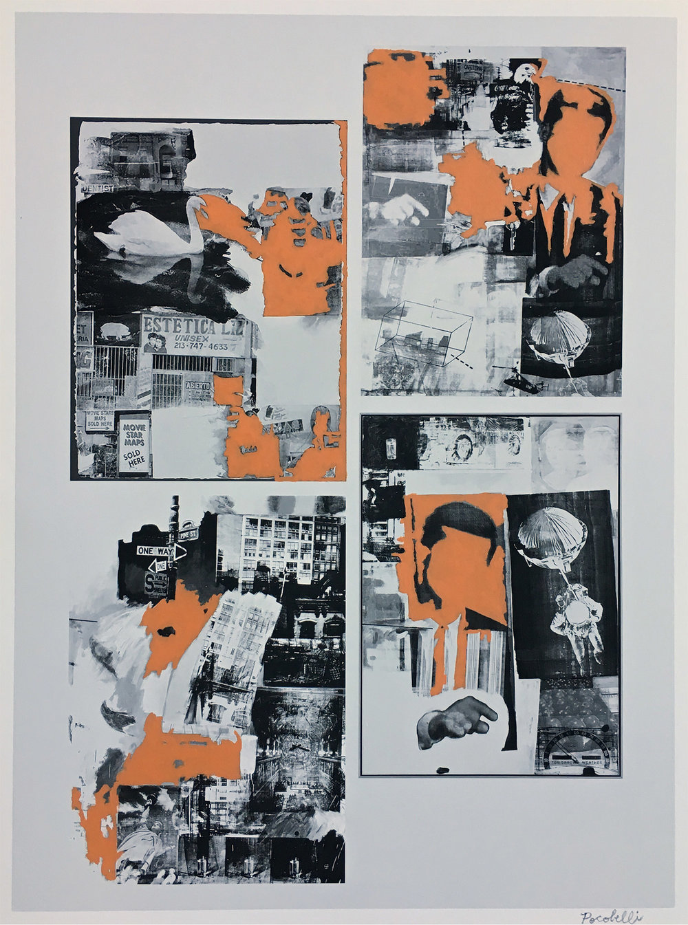 """""""q=robert+rauschenberg"""", 35 cm x 46 cm, inkjet and acrylic paint on hahnemuhle paper."""