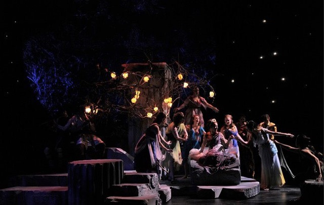 Monica Giordano in A Midsummer Night's Dream with UMass, photo by Jon Crispin